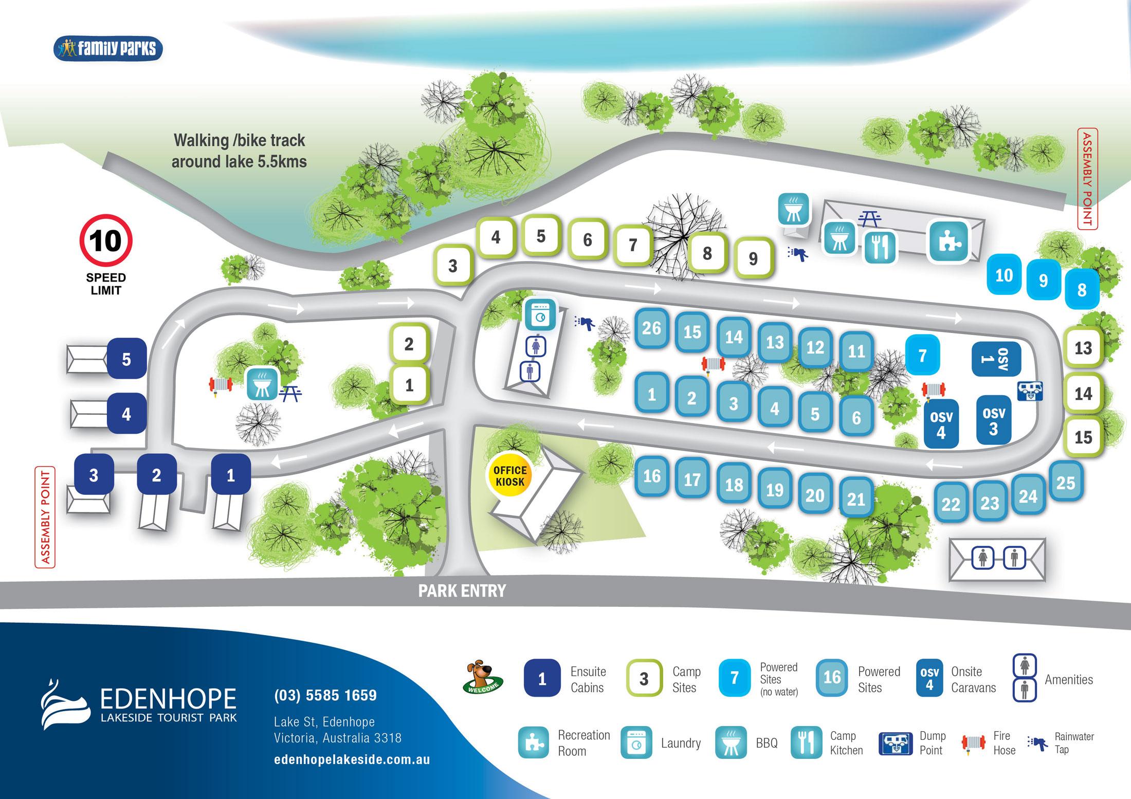Edenhope Park Map